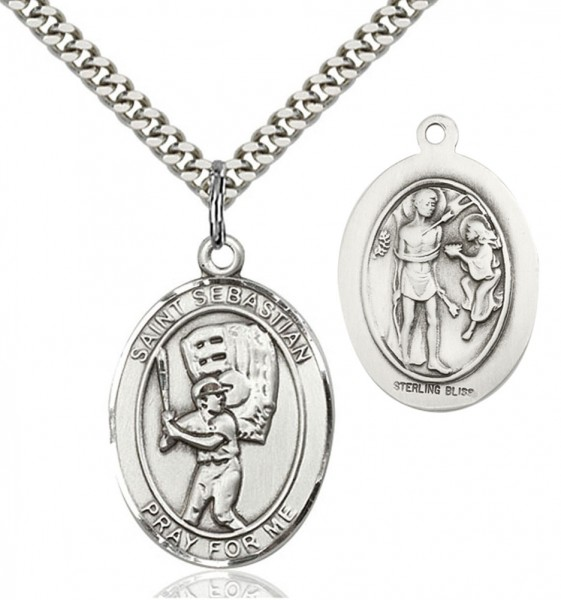 View all baseball medals catholic faith store st sebastian baseball medal en6534 aloadofball Gallery