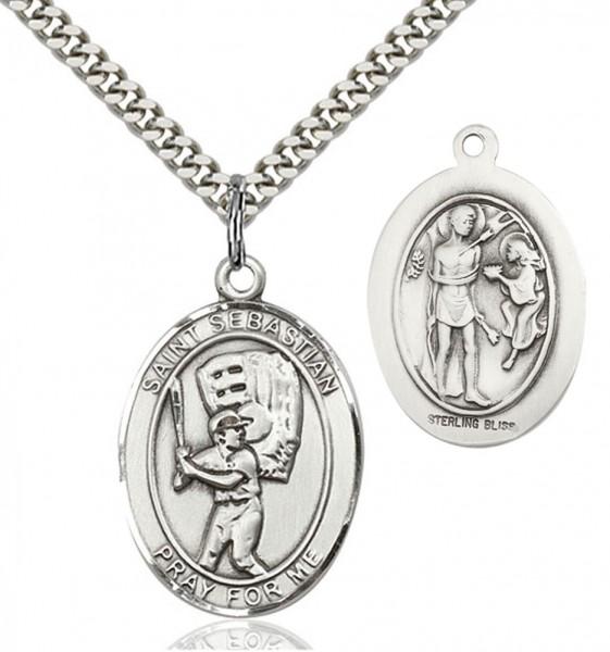 St sebastian baseball medal st sebastian baseball medal sterling silver aloadofball Images