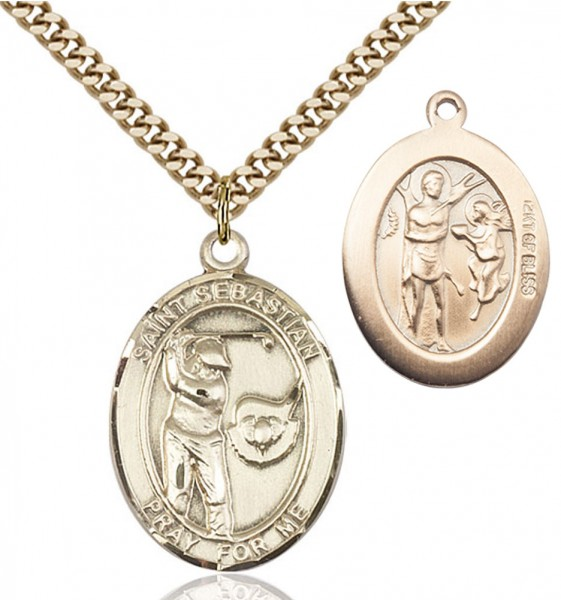 St. Sebastian Golf Medal - 14KT Gold Filled