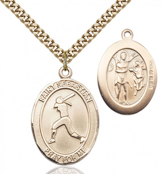 St. Sebastian Softball Medal - 14KT Gold Filled