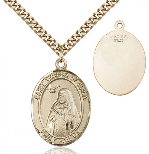 St. Teresa of Avila Medal - 14KT Gold Filled