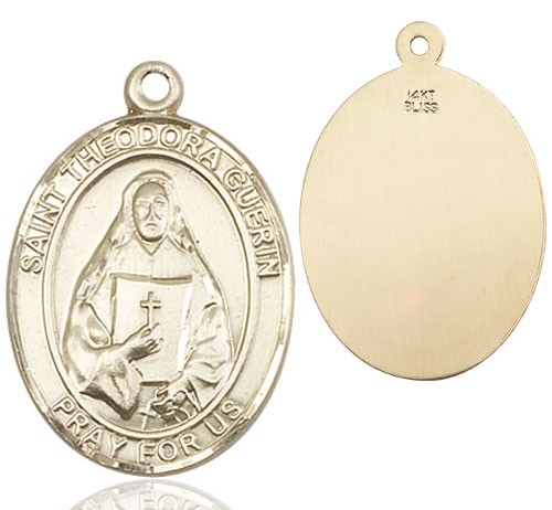St. Theodora Guerin Medal - 14K Yellow Gold