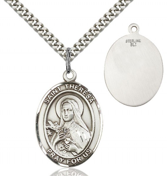 St. Theresa Medal - Sterling Silver