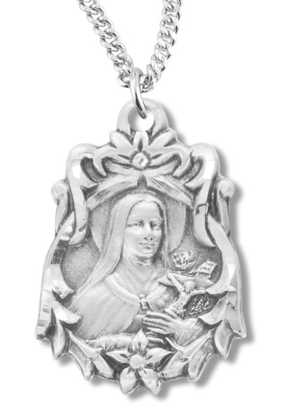 St. Therese Medal Sterling Silver - Silver