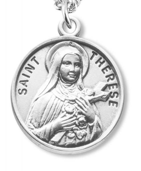 St. Therese Medal - Sterling Silver