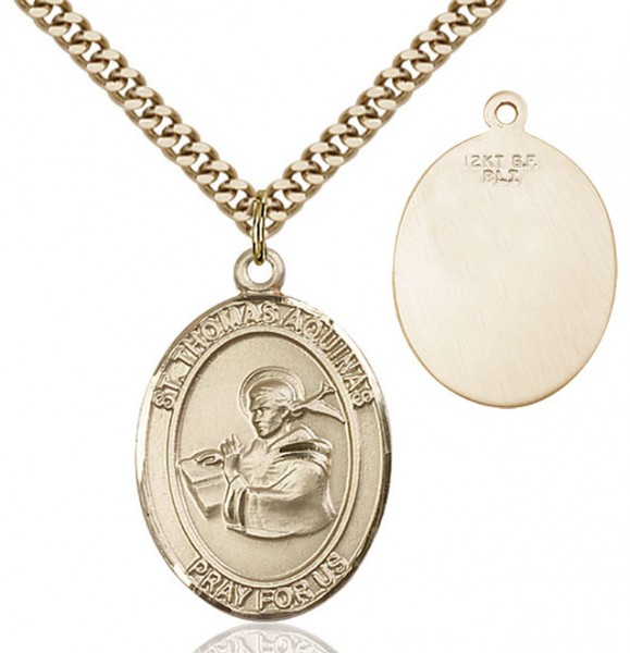 St. Thomas Aquinas Medal - 14KT Gold Filled
