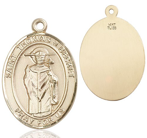 St. Thomas Becket Medal - 14K Yellow Gold