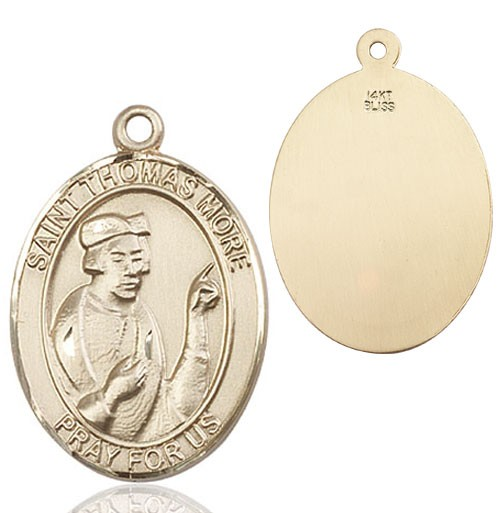 St. Thomas More Medal - 14K Yellow Gold