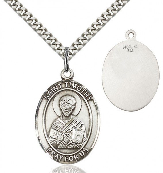 St. Timothy Medal - Sterling Silver