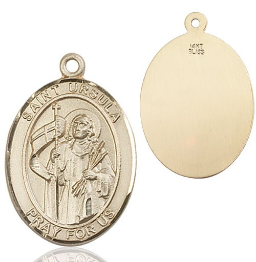 St. Ursula Medal - 14K Yellow Gold