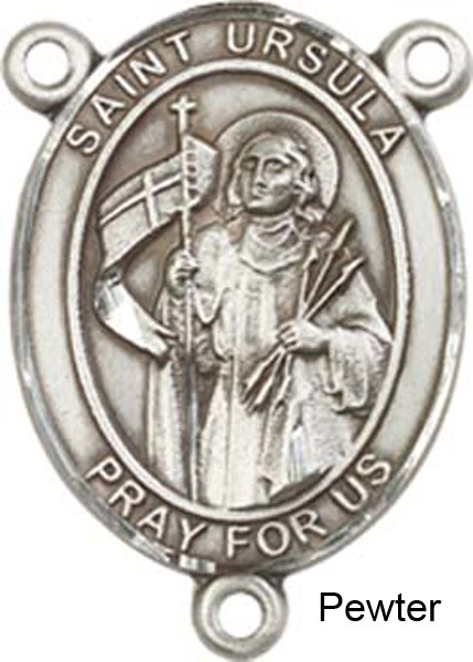 St. Ursula Rosary Centerpiece Sterling Silver or Pewter - Pewter