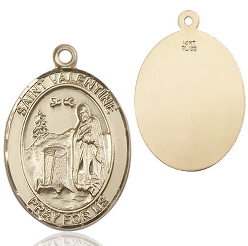 St. Valentine of Rome Medal - 14K Yellow Gold