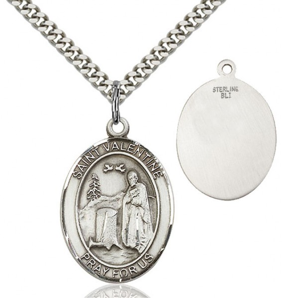 St. Valentine of Rome Medal - Sterling Silver