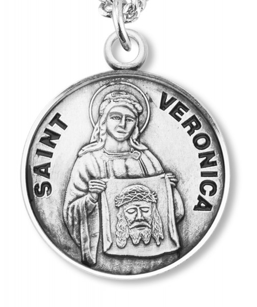 St. Veronica Medal - Sterling Silver