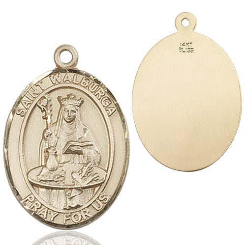 St. Walburga Medal - 14K Yellow Gold
