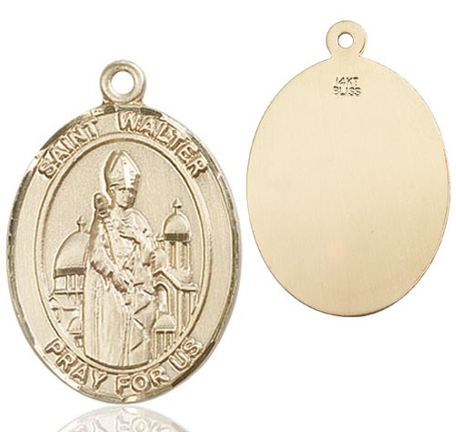 St. Walter of Pontnoise Medal - 14K Yellow Gold