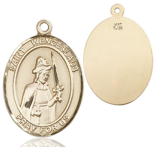 St. Wenceslaus Medal - 14K Solid Gold