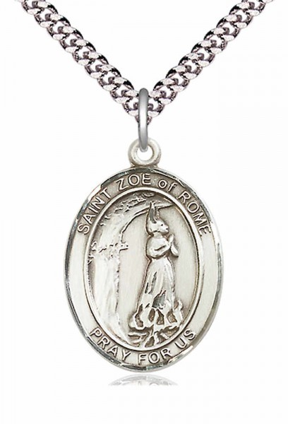 St. Zoe of Rome Medal - Pewter