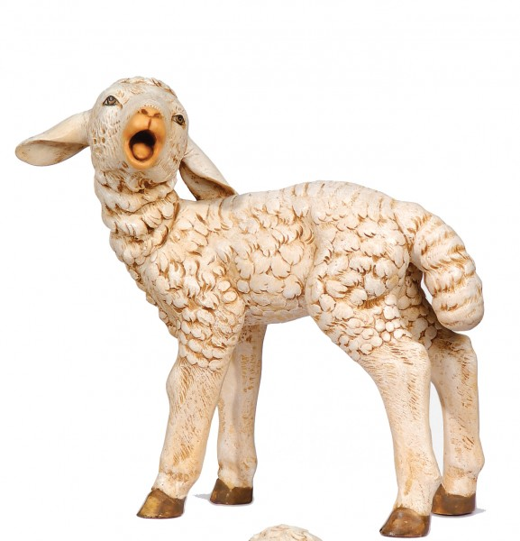 Standing Sheep Figure for 50 inch Nativity Set - Antique Cream