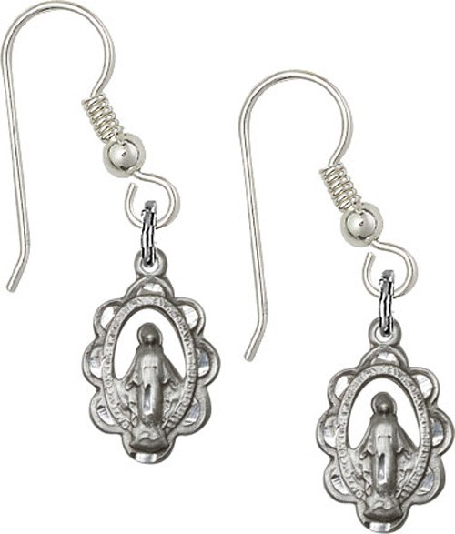 Sterling Silver Miraculous French Wire Earrings - Sterling Silver