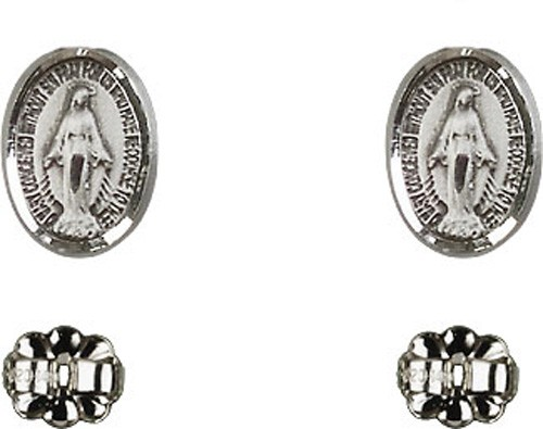 Sterling Silver Miraculous Post Earrings - Sterling Silver