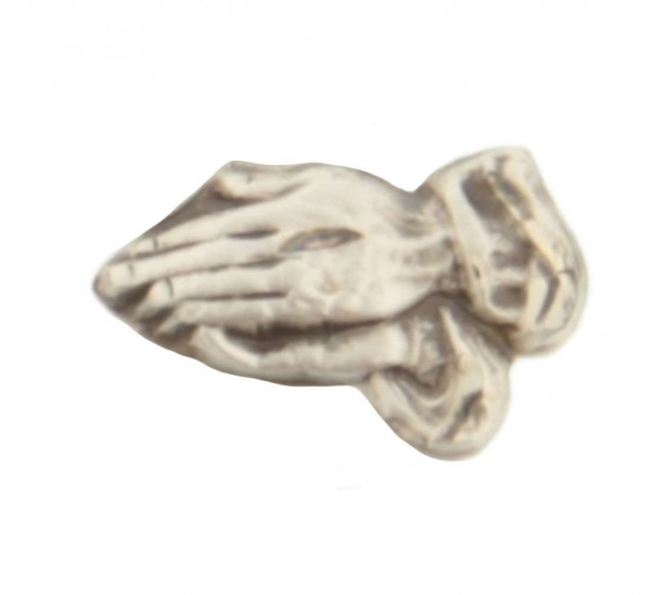 Sterling Silver Praying Hands Lapel Pin - Sterling Silver