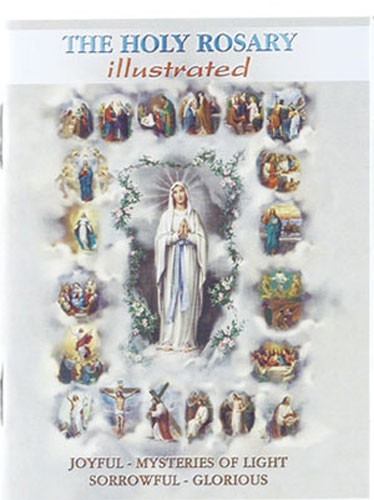 The Holy Rosary Book Mysteries - 10 per order - Multi-Color
