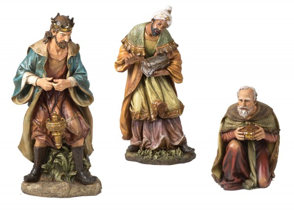 "Three Kings Statue Set - 39"" H - Multi-Color"