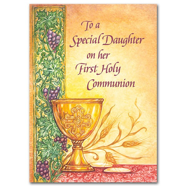 To a special daughter on her first holy communion greeting card to a special daughter on her first holy communion greeting card multi color m4hsunfo