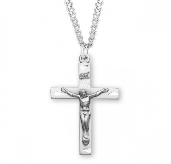 Traditional Crucifix Pendant Sterling Silver - Silver