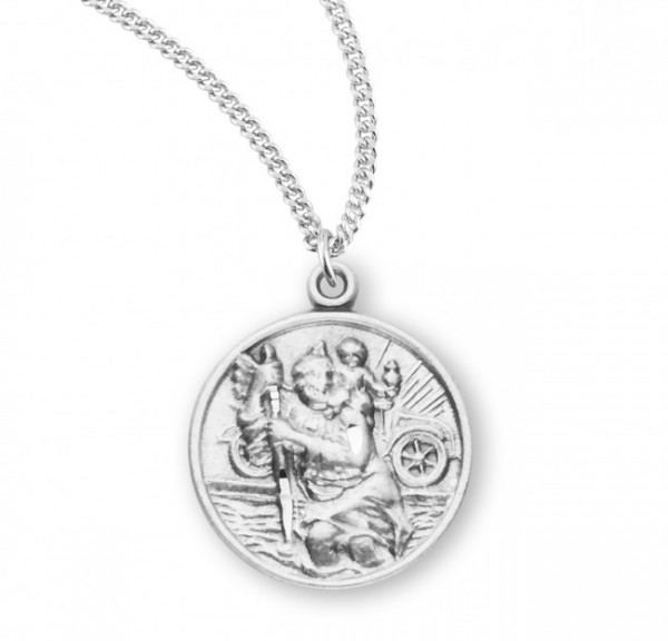 Traveler's St. Christopher Necklace - Sterling Silver