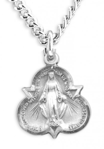 Trinity Miraculous Pendant with Chain - Sterling Silver