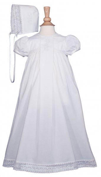 Victorian Style Cotton Christening Gown - White