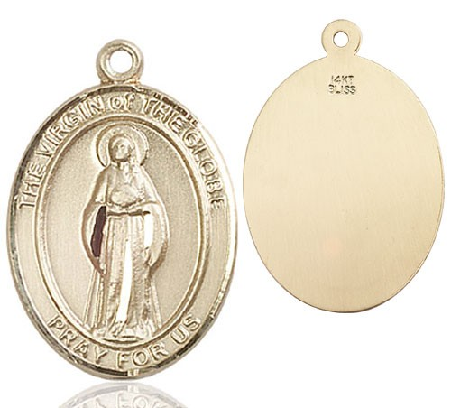 Virgin of the Globe Medal - 14K Yellow Gold