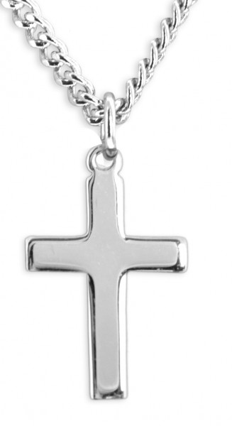 Women or Teen High Polish Cross Pendant - Sterling Silver