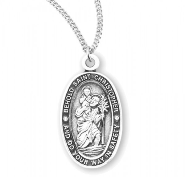 Women's Behold St. Christopher Necklace - Sterling Silver