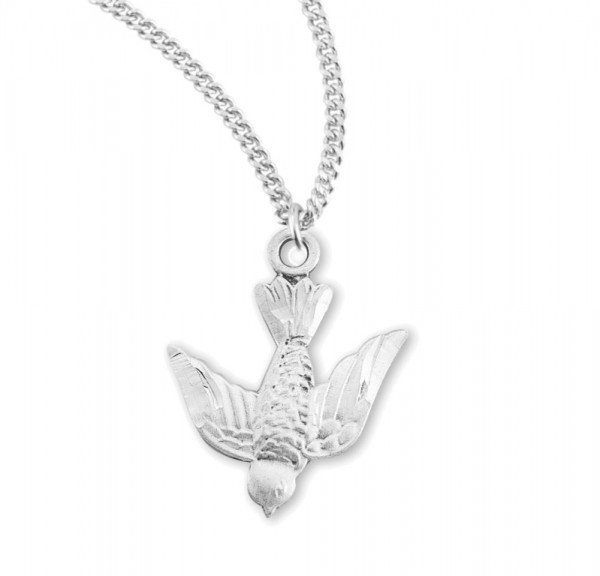 Women's Descending Dove Necklace - Sterling Silver
