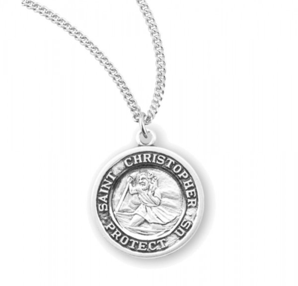 Women's St. Christopher St. Raphael Necklace - Sterling Silver