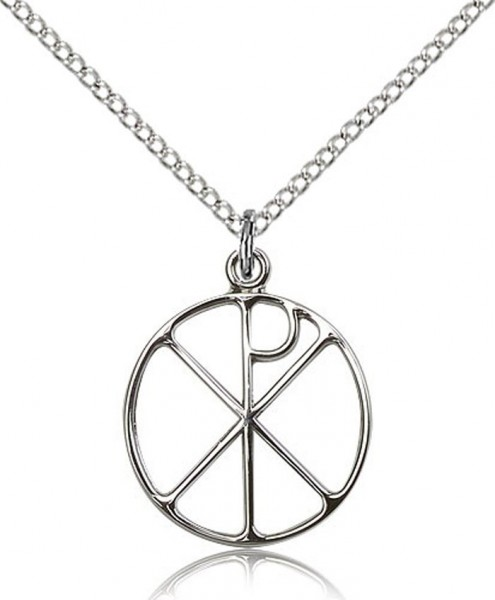 Women's Open Cut Chi Rho Medal - Sterling Silver