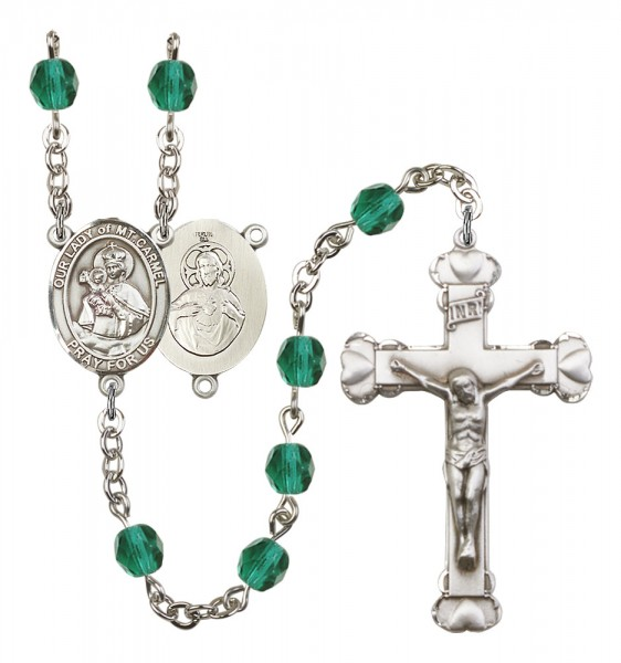 Women's Our Lady of Mount Carmel Birthstone Rosary - Zircon