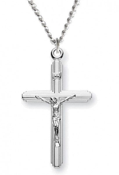 Women's Petite Contemporary Crucifix - Sterling Silver