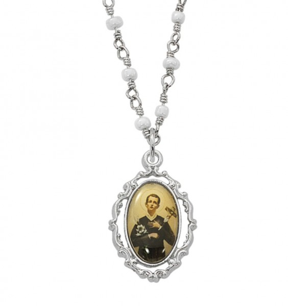 Women's Saint Gerard Necklace - Silver tone