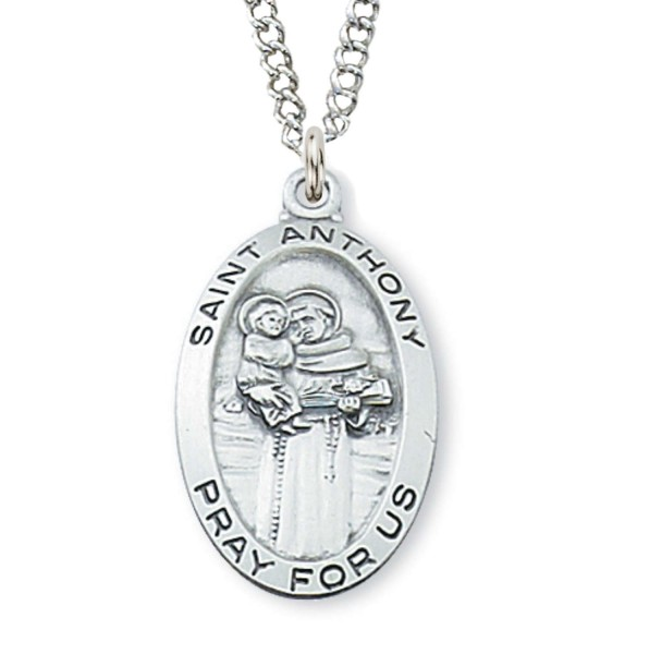 Womens st anthony medal sterling silver womens st anthony medal sterling silver silver aloadofball Images