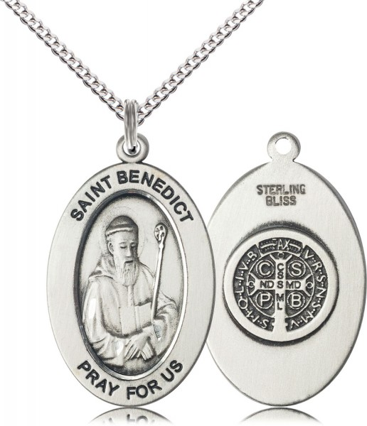 Women's St. Benedict of Monks Necklace - Sterling Silver