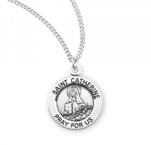 Women's St. Catherine of Siena Round Medal - Sterling Silver