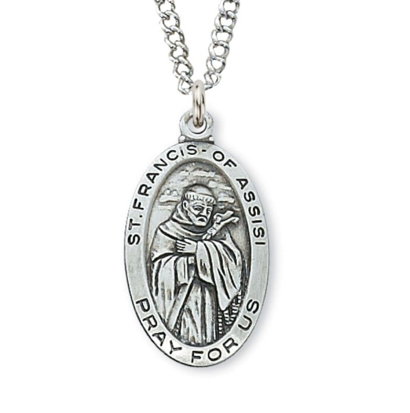 Women's St. Francis of Assisi Medal Sterling Silver - Silver