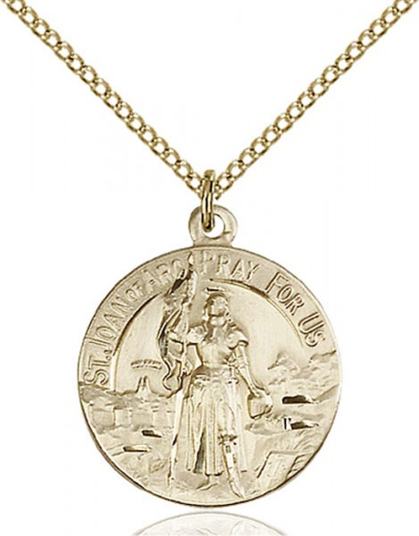 Women's St. Joan of Arc Patron Saint Medal - Gold Filled