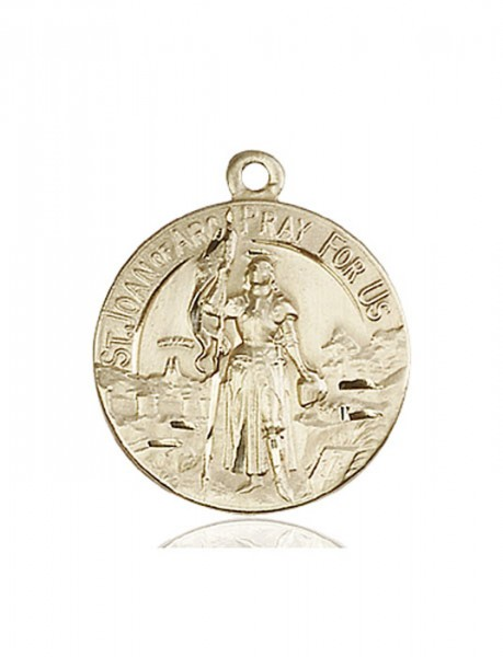 Women's St. Joan of Arc Patron Saint Medal - 14K Solid Gold