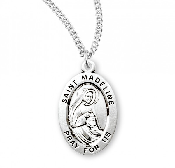 Women's St. Madeline Oval Medal - Sterling Silver