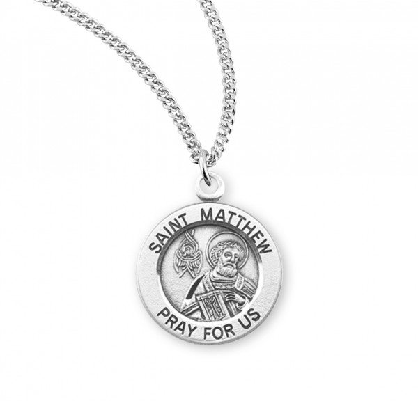 Women's St. Matthew Round Medal - Sterling Silver